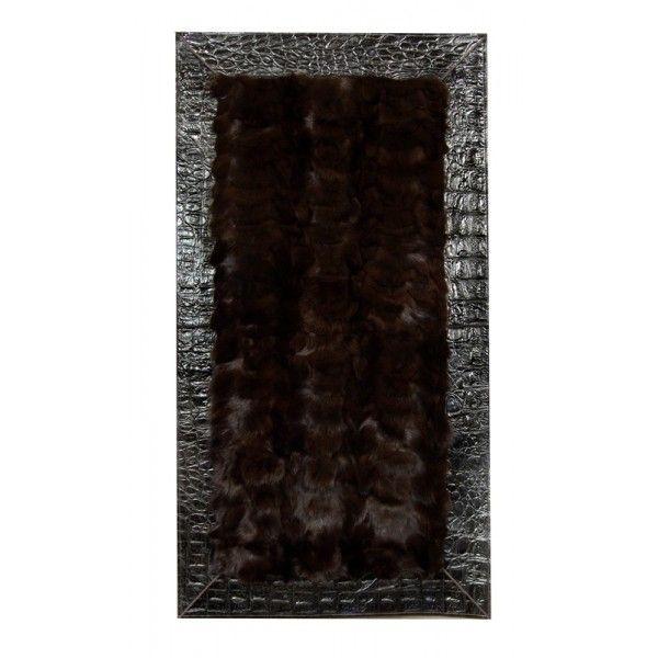 Dywanik futro lis, wymiary: 60x120 cm.