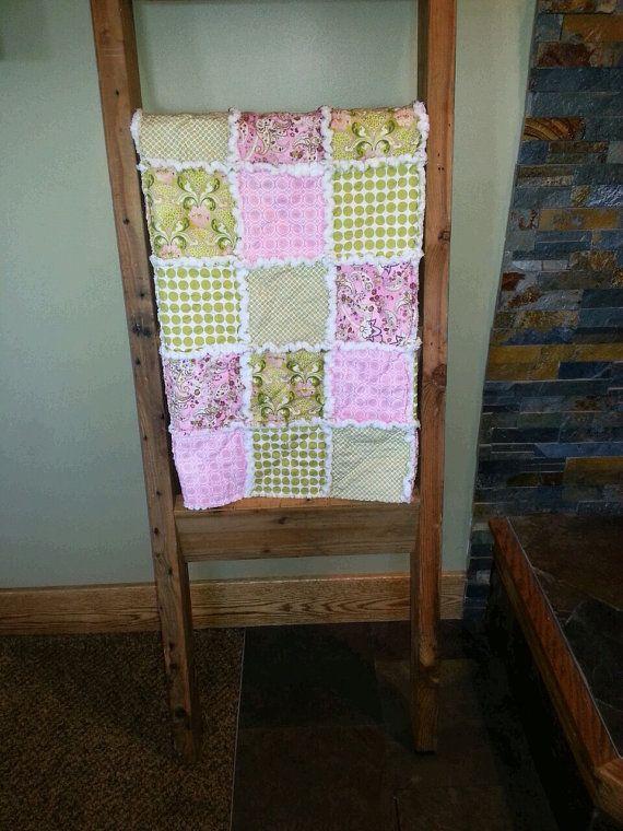 Handmade Baby Girl Rag Quilt by HandmadebyMrsJ on Etsy