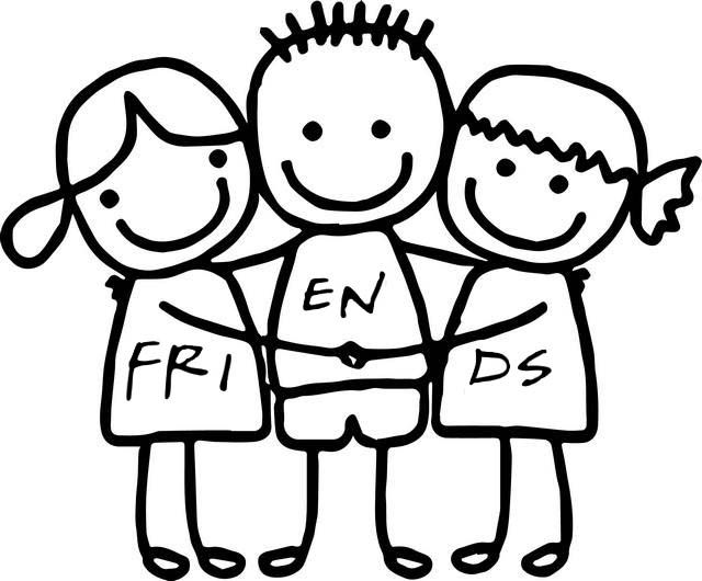 - Cute Friendship Coloring Page Heart Coloring Pages, Preschool Coloring  Pages, Friend Cartoon