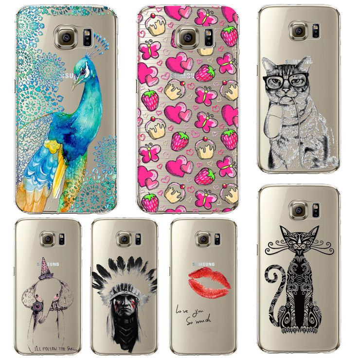 Phone Case For Samsung Galaxy S5/6 S6Edge Beautiful Dandelion Balloons Peacock Fruit Soft TPU Back Cover Skin Shell Capa Celular -- Read more reviews of the product by visiting the link on the image.