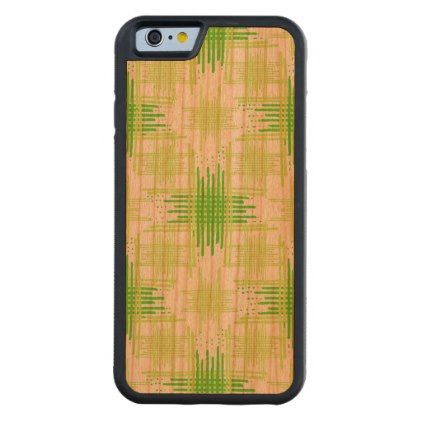 Intersecting Lines Pattern Carved Cherry iPhone 6 Bumper Case - patterns pattern special unique design gift idea diy