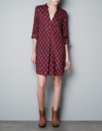 TUNIC WITH PRINTED BIB FRONT - Dresses - Woman - ZARA United States