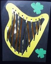 """""""David's harp""""craft- """"Praise The Lord in all circumstances """" lesson"""