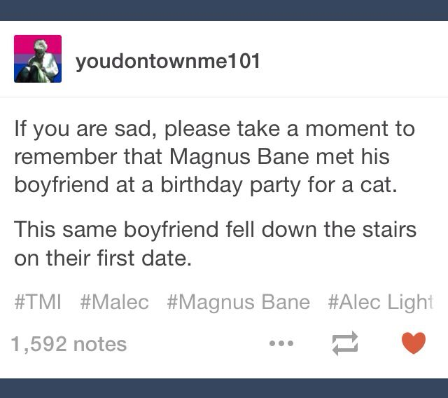 Just remember that Alexander Lightwood, a trained Shadowhunter taught to be as agile and graceful as a cat, fell down the stairs on his first date.