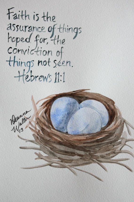 Custom Watercolor Scripture Verse Paintings by DeannaWalterFineArt