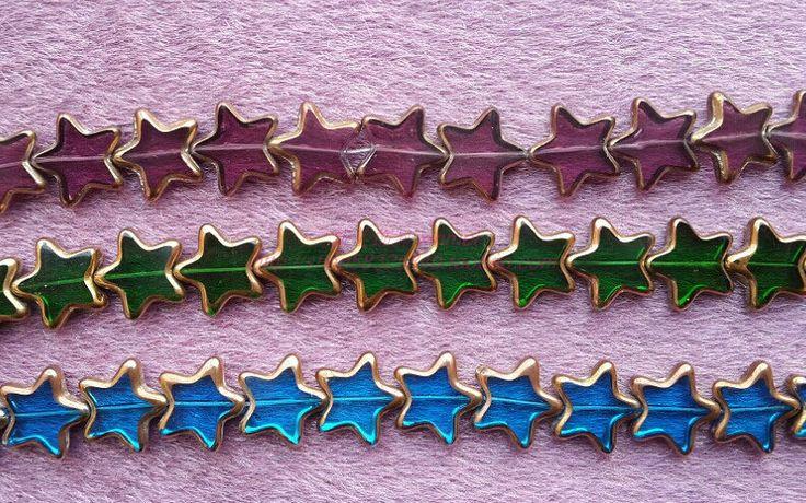 Gwiazdkowe beadsy w różnych kolorach, 15 mm● Bezpieczny Import z Chin ● 36.pl