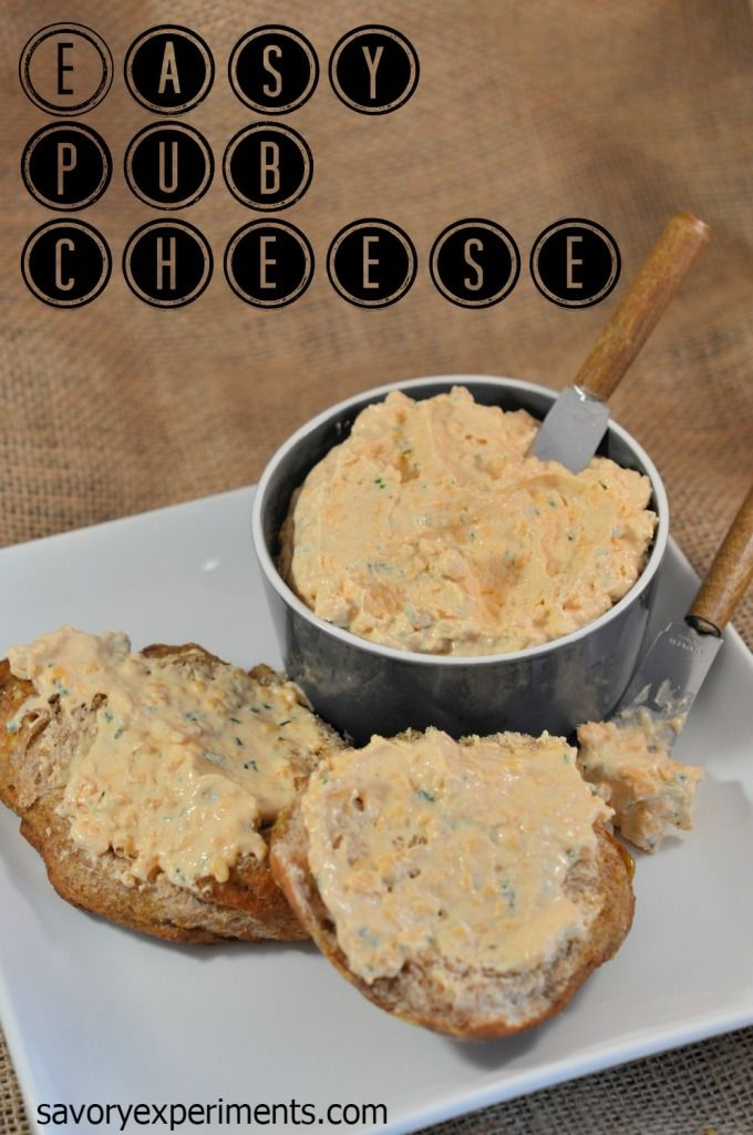 Easy Pub Cheese - Spreadable, zesty cheese in 5 just minutes! |#pubcheese | savoryexperiments.com