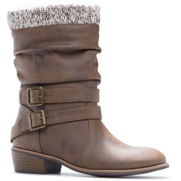 ShoeDazzle Booties Sanje Womens Brown ❤ liked on Polyvore featuring shoes, boots, ankle booties, booties, brown, flat ankle boots, flat ankle booties, flat bootie, ankle bootie boots and brown ankle boots