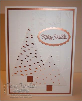 Toni Tessler (tonistamps) Independent Stampin Up Demonstrator. Paper Pumpkin July 2016, alternate idea.  Copper trees.  Oh What Fun stamps.