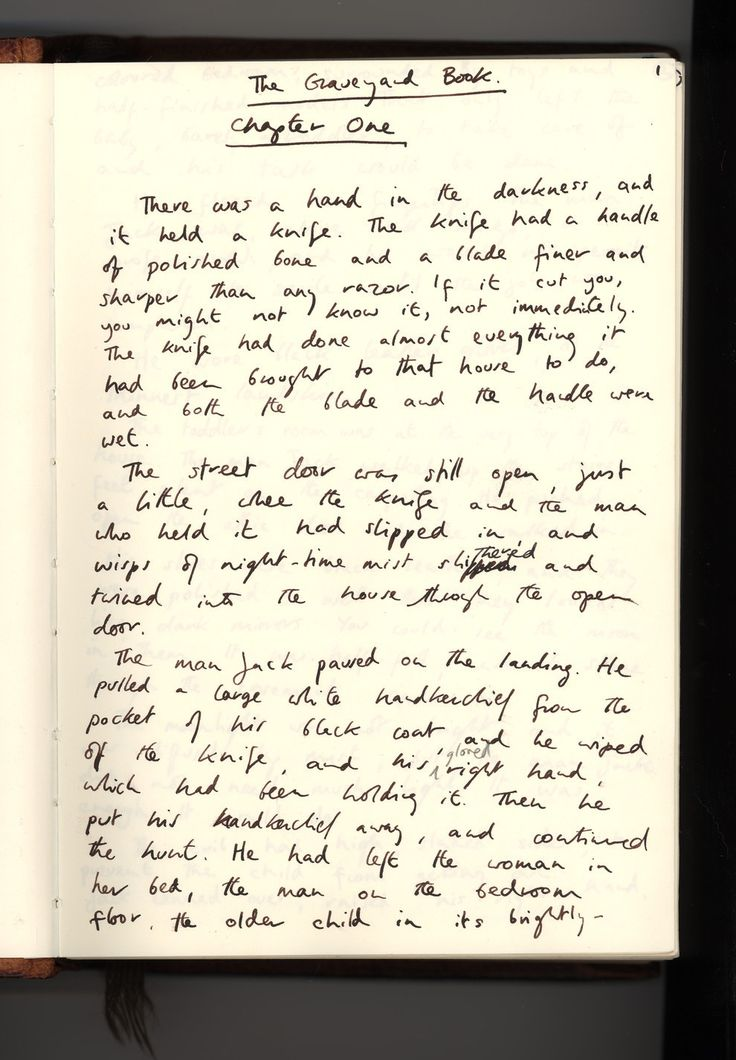 See the original drafts of American Gods, Stardust, and The Graveyard Book, via The Art of Neil Gaiman.