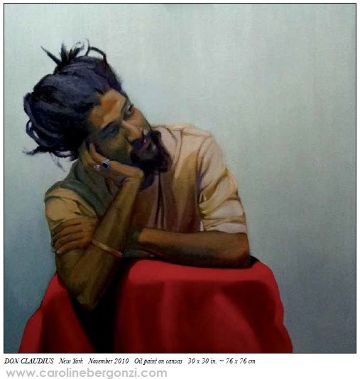 "Original artworks: #Liveportraits by Caroline Bergonzi.  Extract of the ""Caroline Bergonzi Creative Odyssey"" 400-page #artbook, available on Amazon."