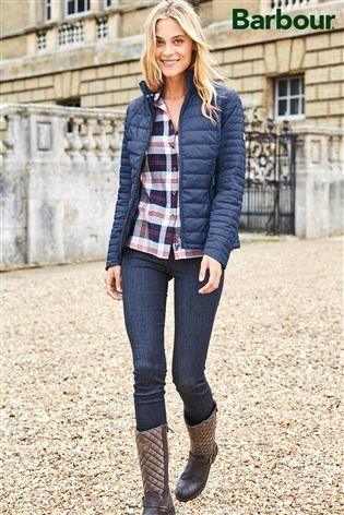 Buy Barbour® Navy Landry Baffle Quilted Jacket from the Next UK online shop