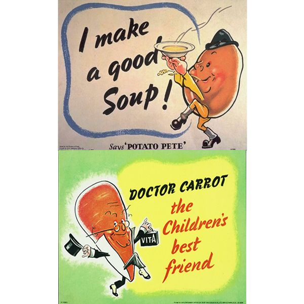Potato Pete and Dr Carrot Poster    Dig for Victory was a response to a wartime problem of food shortages but the campaign reflects things that we are concerned about today – having access to fresh healthy food and being active.
