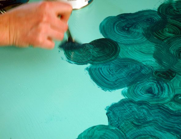 DIY Faux Malachite from Little Green Notebook