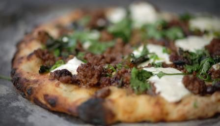 ***pizza base recipe*** BBC - Food - Recipes : Lebanese-spiced lamb flatbread, James Martin
