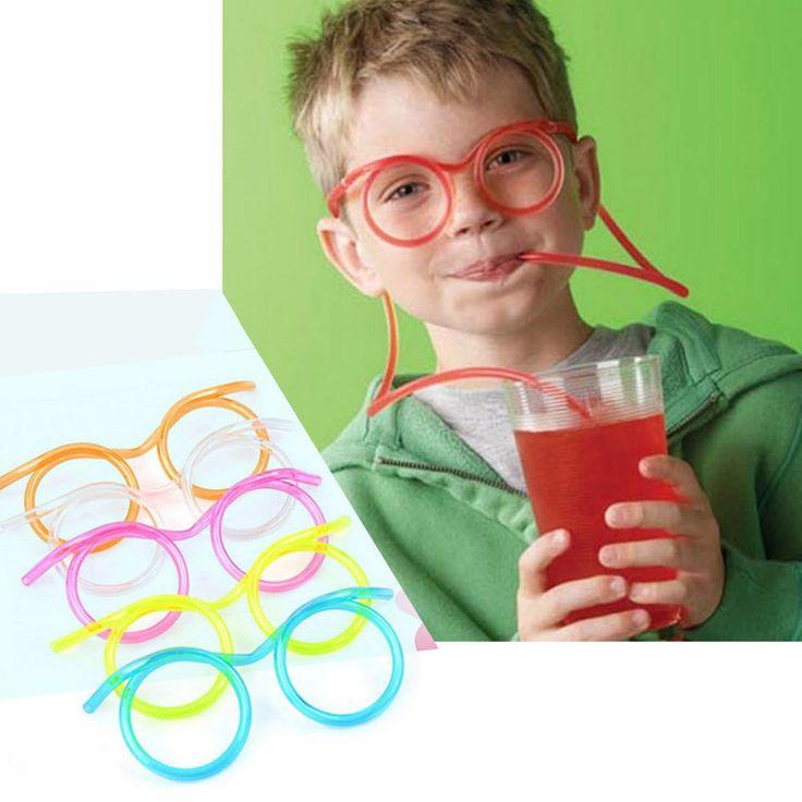 Barato 1 pçs/lote engraçado colorido suave óculos Straw único flexível tubo de beber caçoa o presente do partido 11   515, Compro Qualidade Canudinhos diretamente de fornecedores da China:               Aviso --- Como encomendar                      Maneira do transporte:               No número de rastreame
