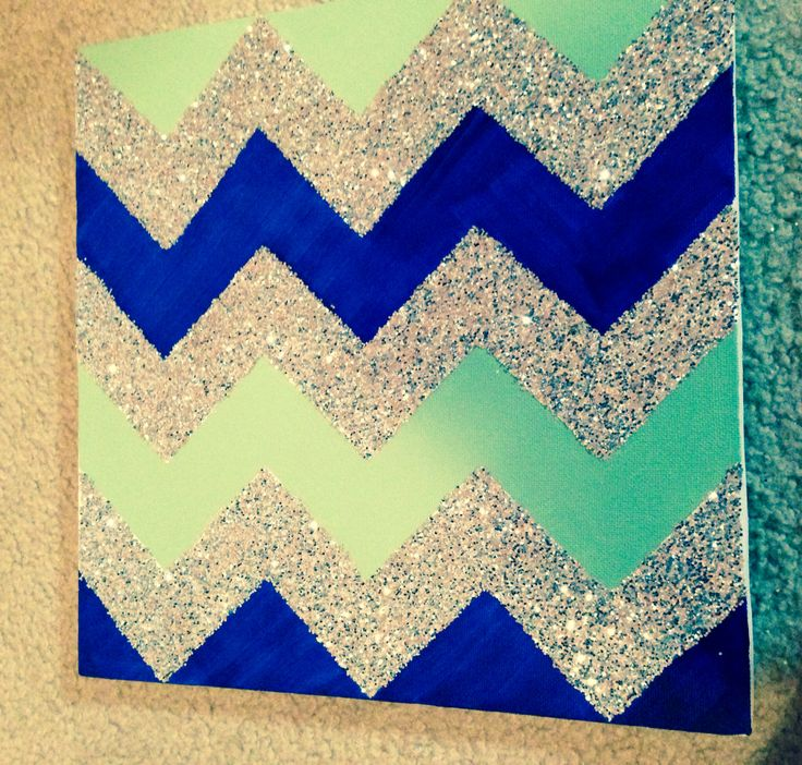 Glitter Chevron Canvas #DIY