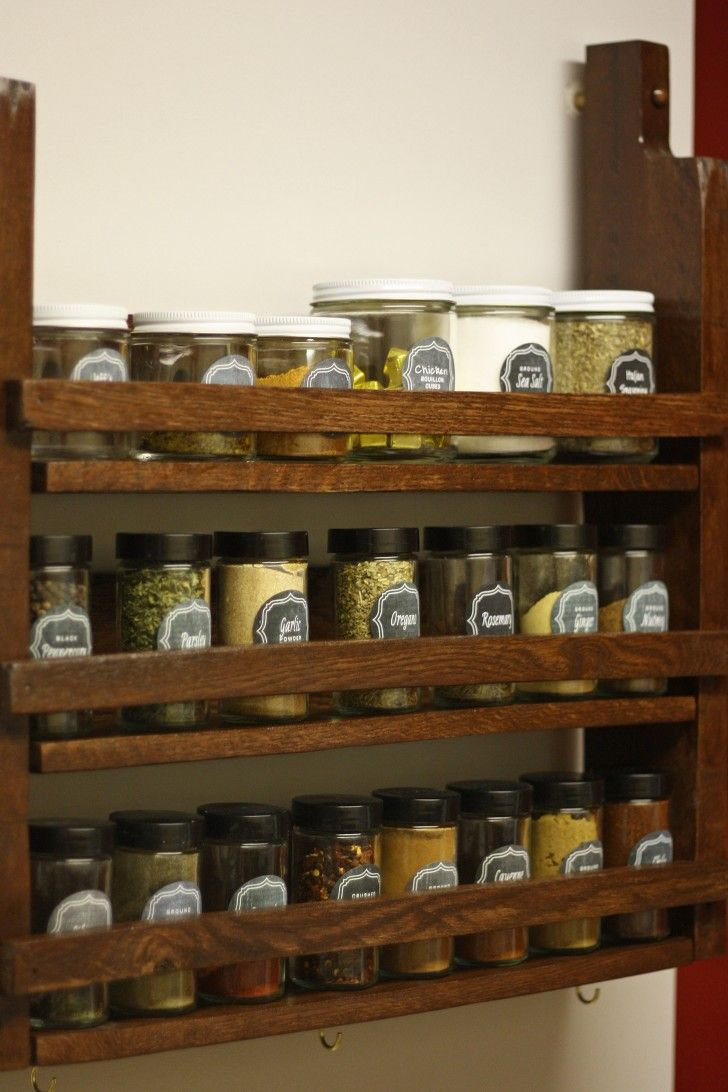 Diy Projects Spice Rack, Kitchen Spice Storage And Kitchen Spice Rack  Design. Spice Racks For Cabinets, Door Spice Rack And Best Spice Rack.