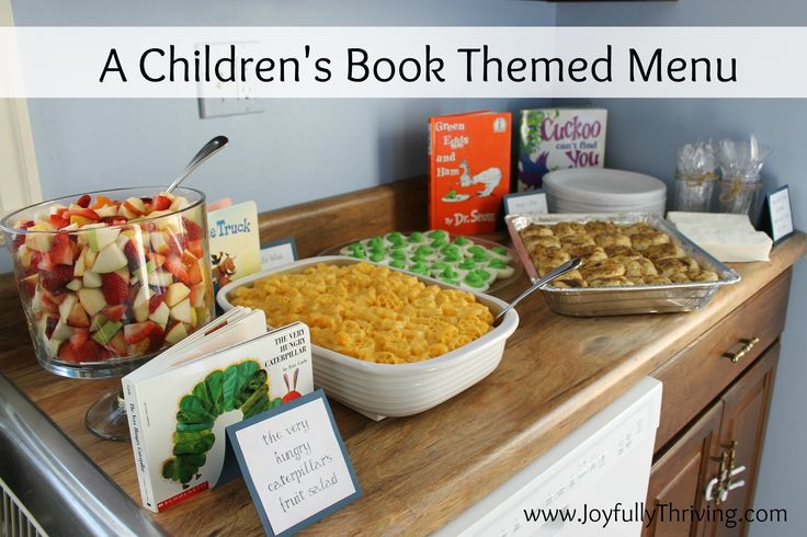 A Children's Book Themed Menu - Here is a list of classic children's books and foods that go with them. A great party idea for a young book lover!