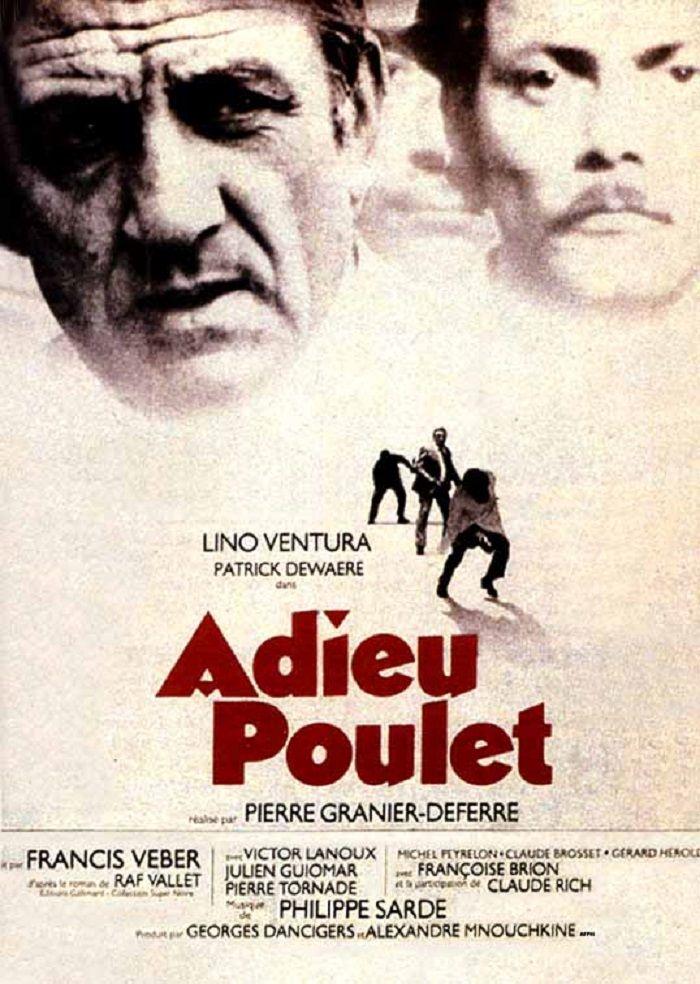"""""""Adieu poulet'"""" de Pierre Granier-Deferre avec Lino Ventura, Patrick Dewaere, Victor Lanoux, Julien Guiomar."""
