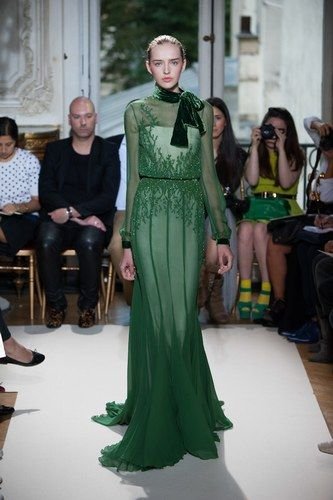 Georges Hobeika at Haute Couture Fashion Week Paris: A/W 2012-2013- We love forest green