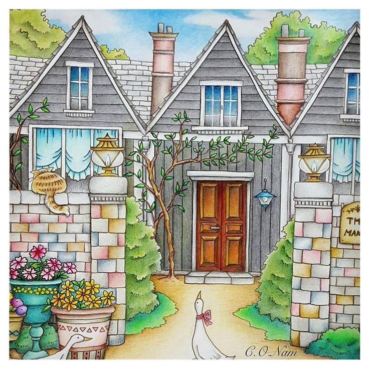 Romentic country by Eriy #coloringbook #romanticcountry #eriy #favercastell #컬러링북 #로멘틱컨트리 #에리 #파버카스텔