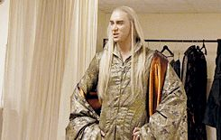 Do you think he's having a good time? #LeePace as #Thranduil behind the scenes.