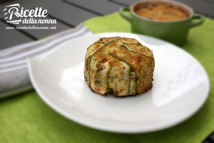 Sformatini di riso e zucchine - Rice and zucchini souffle