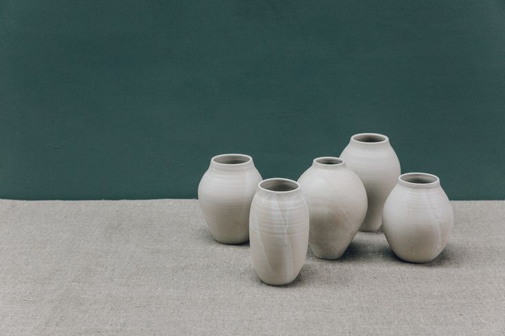 White vases by Pottery West