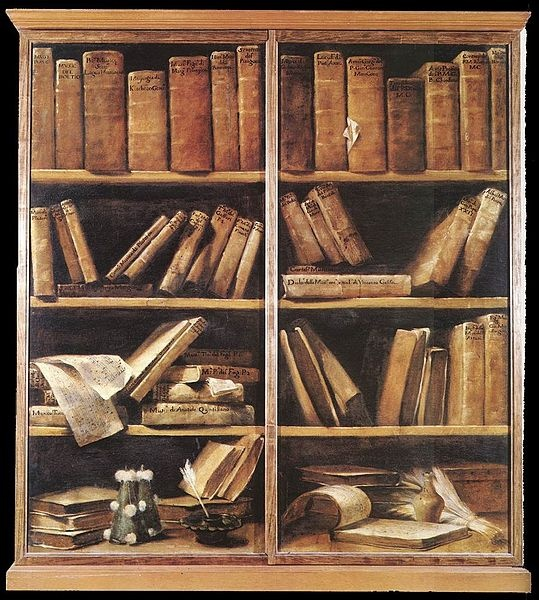 """Giuseppe Maria Crespi """"Scaffali con libri di musica"""" (1720-30)"""