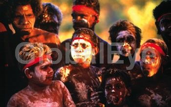 Young Jawoyn Aboriginal boys painted for dancing. Young Jawoyn Aboriginal boys painted  for dancing and ceremony.Stock Photo By David C Hancock