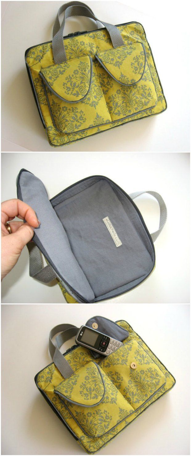 Sewing pattern for this Ipad case.  One of the best tablet cases/bag sewing patterns you'll find.  Beautiful professional finish on this bag.  Great value pattern.  Could be adapted for lots of ideas and sizes.