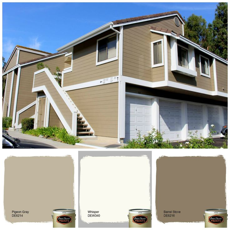 Dunn Edwards Exterior Paint #27: Get The Look With These Dunn Edwards Colors, Whisper Barrel Stove And Pigeon Gray Contact Pilot Painting ...