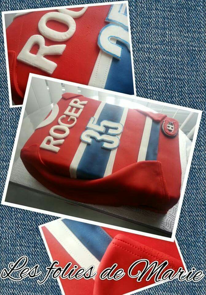 Hockey jersey birthday cake