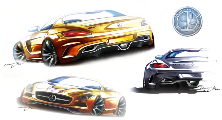 We want to provide you with an exclusive look into the design process of a car – the SLS AMG Coupé Black Series.