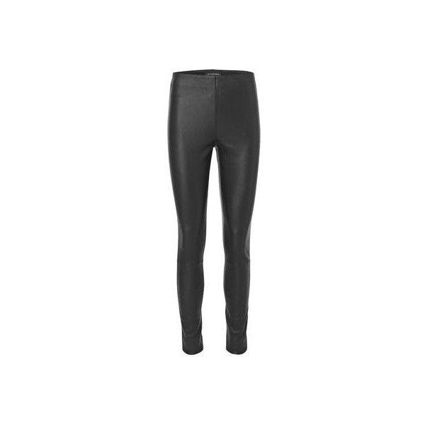 Elenasoo læder leggings via Polyvore featuring pants, leggings, legging pants, patterned leggings, patterned pants, print leggings and print pants