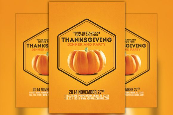 Check out Minimal Thanksgiving Flyer Template by Flyermind on Creative Market