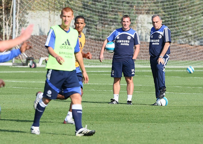 ~ Avram Grant and Brendan Rodgers coaching the Chelsea FC reserves. Steve Sidwell and Scott Sinclair are featured ~