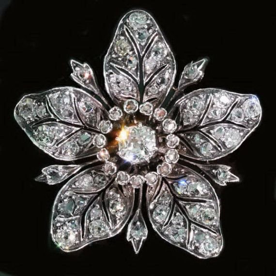My 1850's diamond brooch while I garden.  Just to give the flowers something to aspire to.