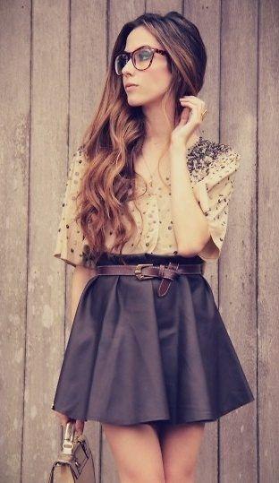 The skirt and shirt