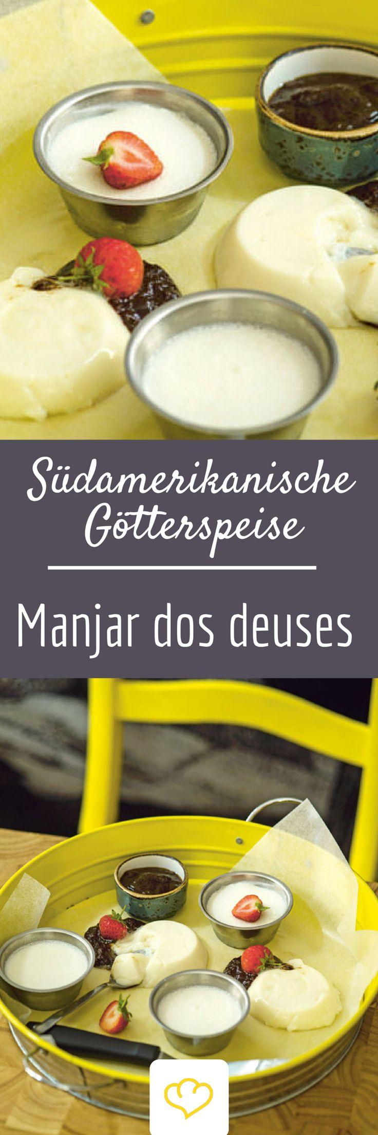 """Dieses Dessert wird insbesondere in Brasilien heiß geliebt. Die Kombination aus Kokos, Pflaumen und Gewürzen schmeckt aber auch himmlisch gut: Südamerikanische Götterspeise """"Manjar dos deuses""""!"""