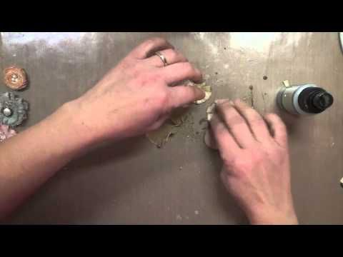 ▶ Shabby Chic Canvas Flowers - YouTube