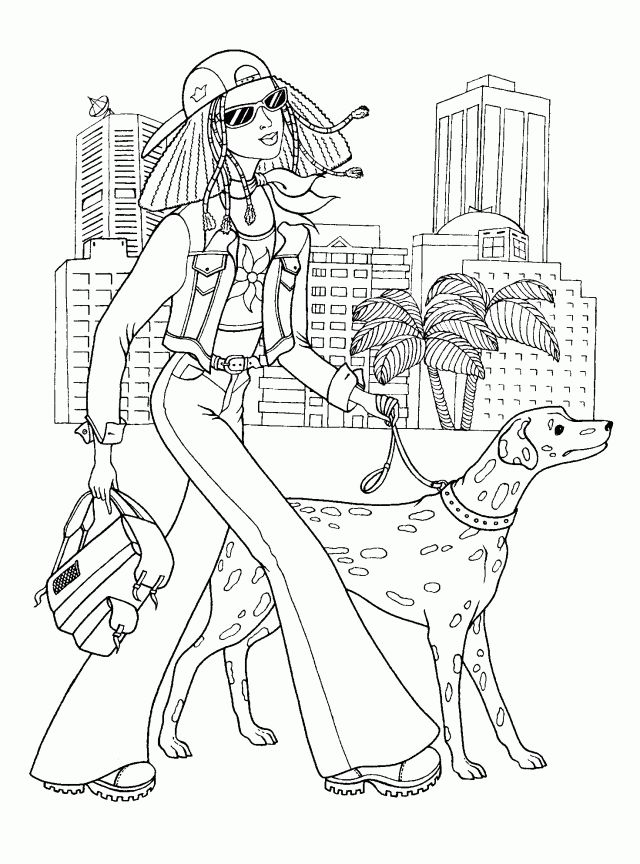 barbie and horse coloring pages for girls coloring pages for kids