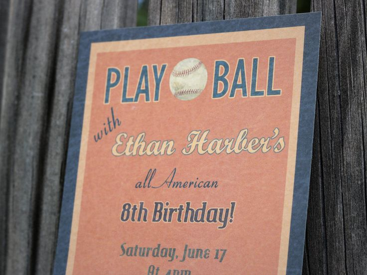 PRINTABLE Vintage Baseball themed Birthday Invitation (Digital file), 1920s Baseball birthday invitation, sports themed invitation by PaperColada on Etsy