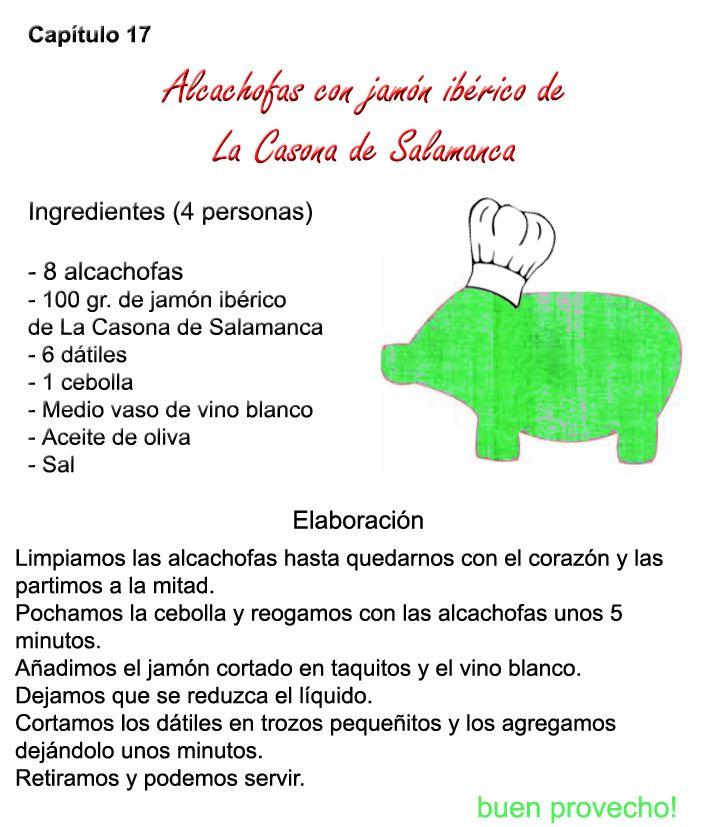 Alcachofas con #jamón #ibérico