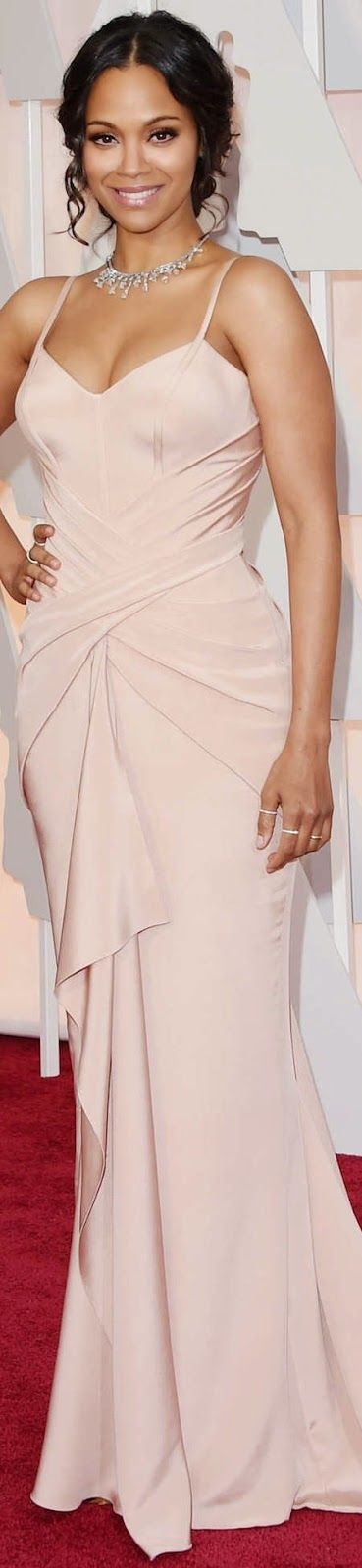 LOOKandLOVEwithLOLO: Zoe Saldana in Atelier Versace on the Red Carpet at the 2015 Oscars