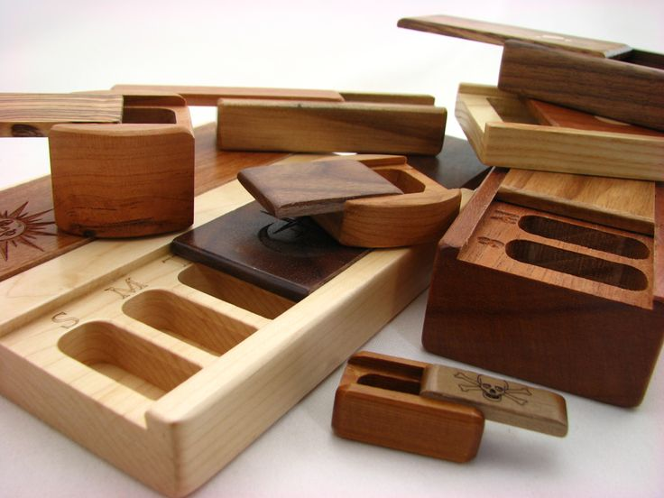 Masterpiece - weekly pill boxes by woodworker Paul Szewc in Guelph, Ontario.