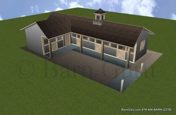 3 Stall Horse Barn Plan Horse And Barn Things