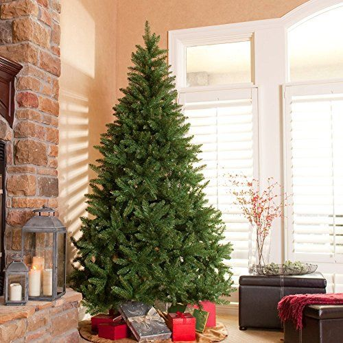 Classic Pine Unlit Christmas Tree 6.5 ft - http://www.christmasshack.com/christmas-trees/classic-pine-unlit-christmas-tree-6-5-ft/