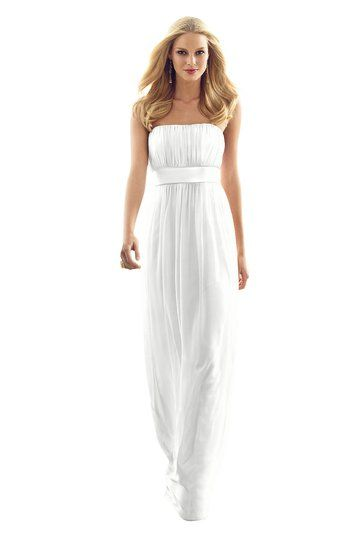 After Six - White Bridesmaid Dress Nu-Georgette